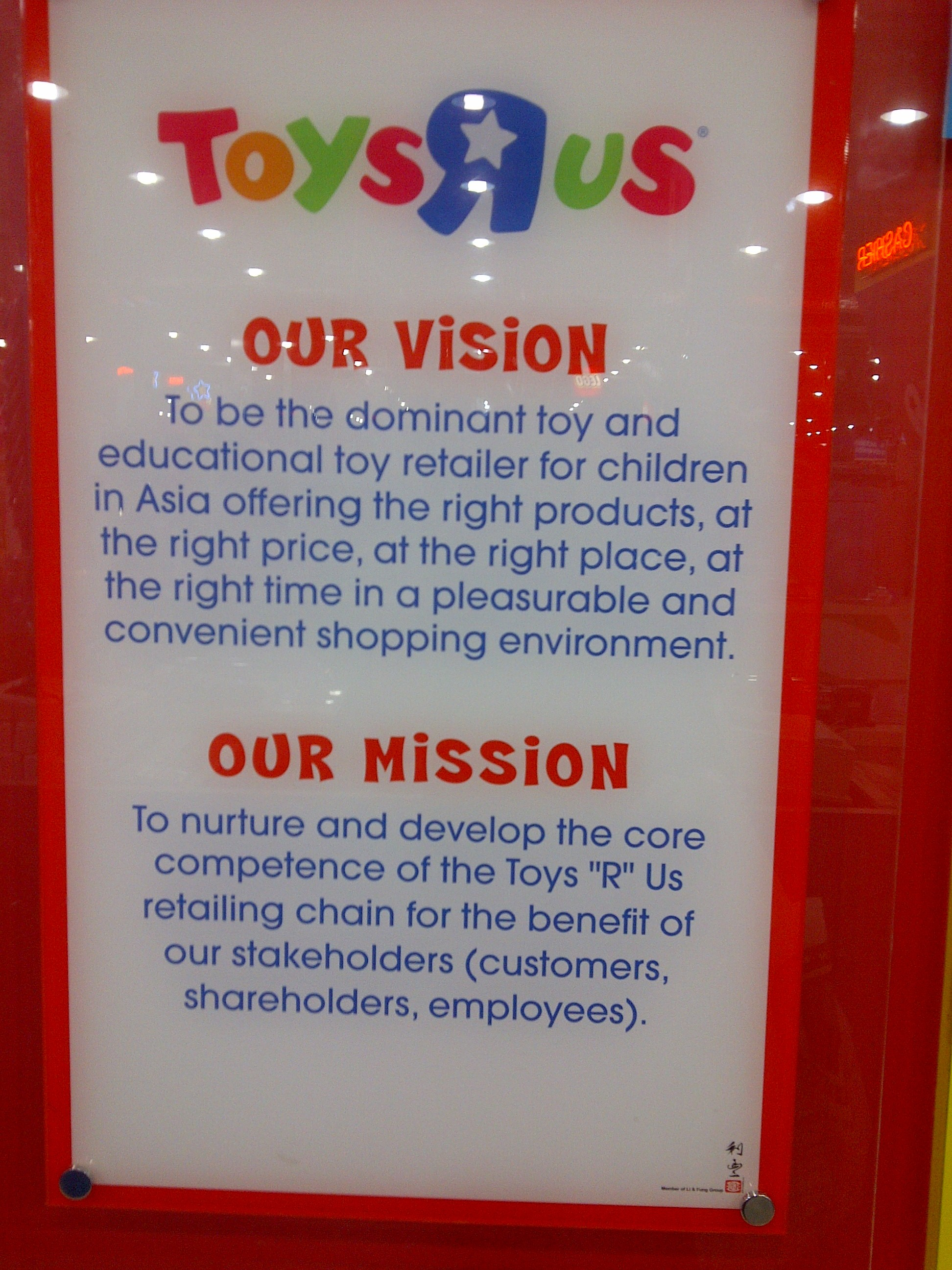 toys r us asia pacific vision and mission really the vision